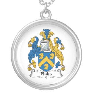 Escudo de la familia de Philip Colgantes