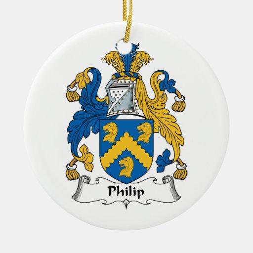 Escudo de la familia de Philip Adorno Redondo De Cerámica