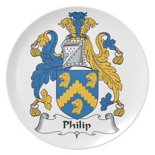 Escudo de la familia de Philip Platos