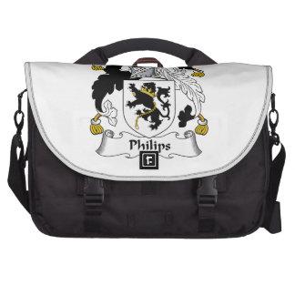 Escudo de la familia de Philips Bolsas Para Ordenador