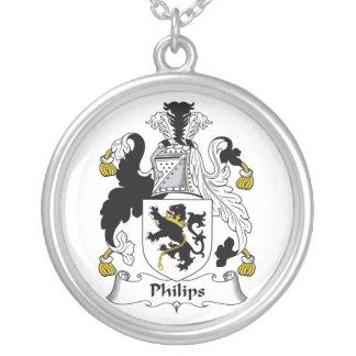 Escudo de la familia de Philips Pendiente Personalizado