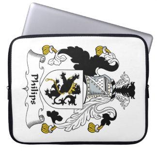 Escudo de la familia de Philips Funda Computadora