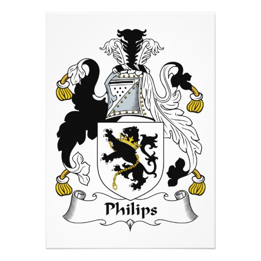 Escudo de la familia de Philips Comunicado Personalizado