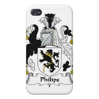 Escudo de la familia de Philips iPhone 4 Cárcasas
