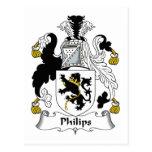 Escudo de la familia de Philips Postales