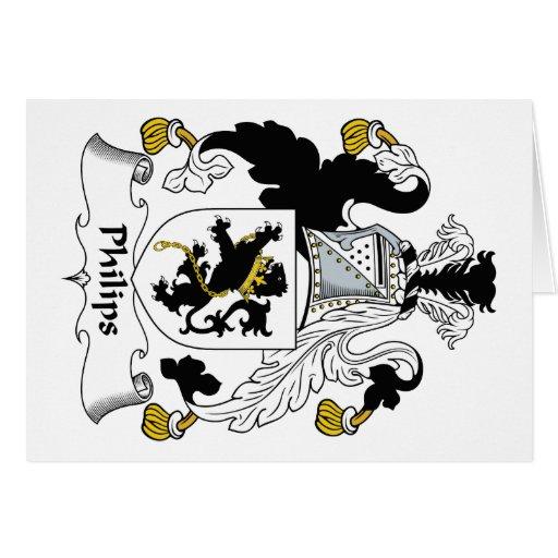 Escudo de la familia de Philips Tarjeta De Felicitación
