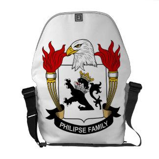 Escudo de la familia de Philipse Bolsa Messenger