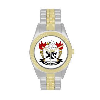 Escudo de la familia de Philipse Relojes De Pulsera