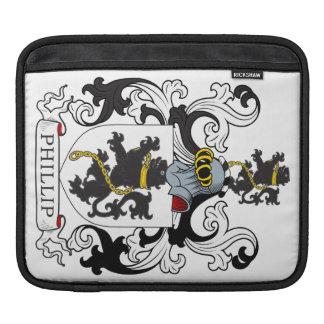 Escudo de la familia de Phillip (Galés) Fundas Para iPads