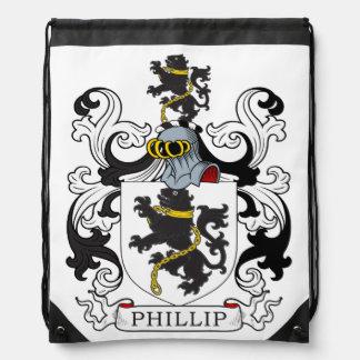 Escudo de la familia de Phillip (Galés) Mochilas