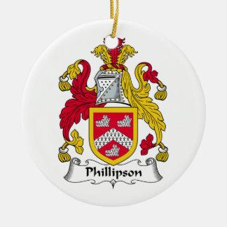 Escudo de la familia de Phillipson Ornamento De Reyes Magos