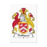 Escudo de la familia de Phillipson Impresiones En Lona Estiradas