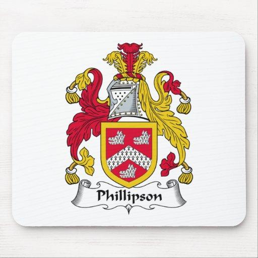 Escudo de la familia de Phillipson Alfombrillas De Ratones