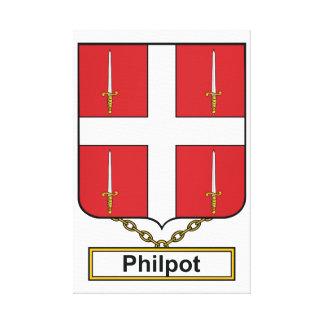 Escudo de la familia de Philpot Impresiones En Lona Estiradas