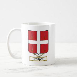 Escudo de la familia de Philpot Taza