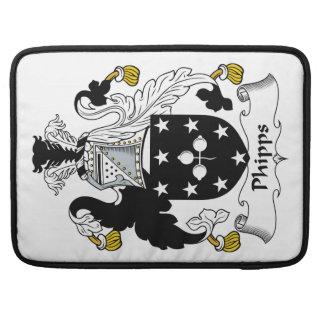 Escudo de la familia de Phipps Funda Para Macbooks