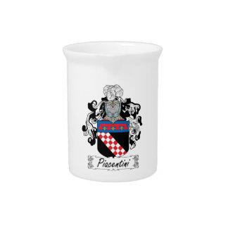 Escudo de la familia de Piacentini Jarras De Beber