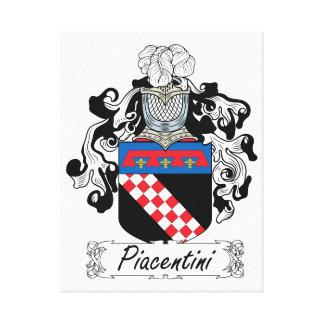 Escudo de la familia de Piacentini Lienzo Envuelto Para Galerías