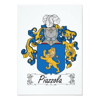 """Escudo de la familia de Piazzola Invitación 5"""" X 7"""""""