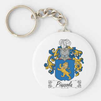 Escudo de la familia de Piazzola Llavero Redondo Tipo Pin
