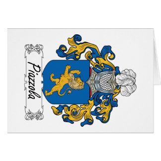 Escudo de la familia de Piazzola Tarjeta De Felicitación