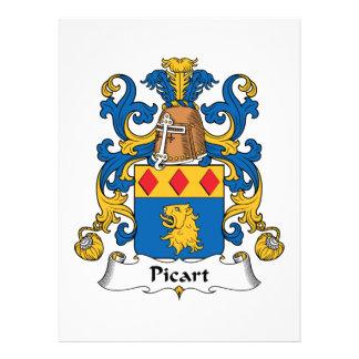 Escudo de la familia de Picart Invitación Personalizada