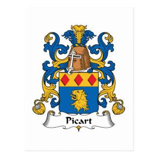 Escudo de la familia de Picart Tarjeta Postal