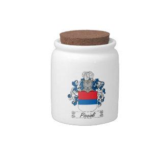 Escudo de la familia de Piccioli Tarro De Cerámica Para Dulces