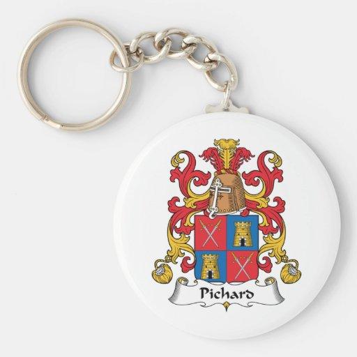Escudo de la familia de Pichard Llavero Personalizado