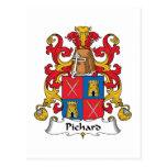 Escudo de la familia de Pichard Postales