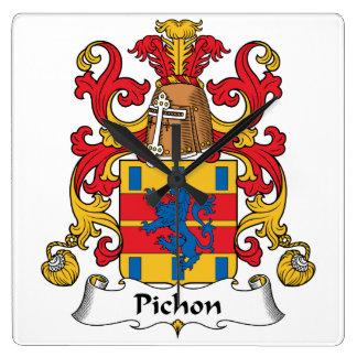 Escudo de la familia de Pichon Reloj Cuadrado