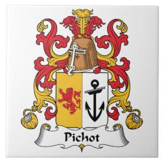 Escudo de la familia de Pichot Azulejo Cuadrado Grande