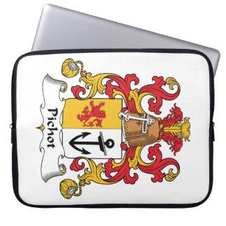 Escudo de la familia de Pichot Fundas Computadoras