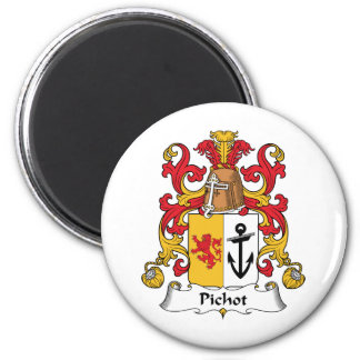 Escudo de la familia de Pichot Imán Redondo 5 Cm