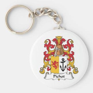 Escudo de la familia de Pichot Llavero Redondo Tipo Pin