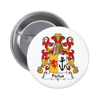 Escudo de la familia de Pichot Pin Redondo 5 Cm