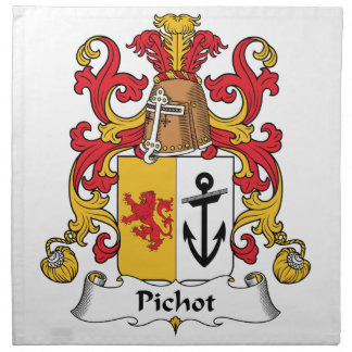 Escudo de la familia de Pichot Servilleta Imprimida