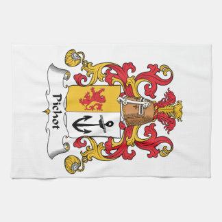 Escudo de la familia de Pichot Toallas De Cocina