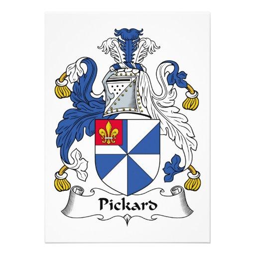 Escudo de la familia de Pickard Comunicado Personalizado