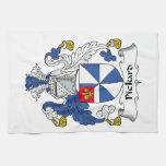 Escudo de la familia de Pickard Toallas De Mano