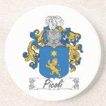 Escudo de la familia de Picoli Posavasos Personalizados