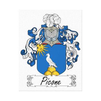 Escudo de la familia de Picone Lona Estirada Galerías