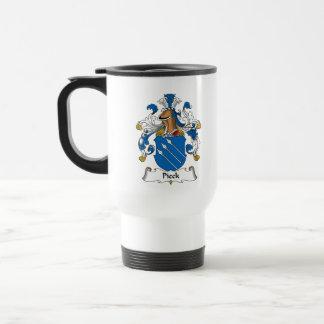 Escudo de la familia de Pieck Tazas De Café