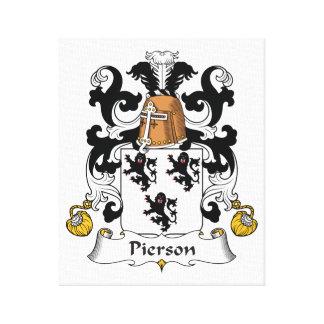 Escudo de la familia de Pierson Impresiones De Lienzo