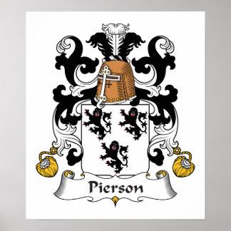 Escudo de la familia de Pierson Póster