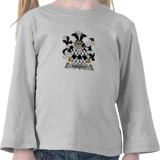 Escudo de la familia de Piggott Camisetas