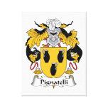 Escudo de la familia de Pignatelli Lona Envuelta Para Galerias