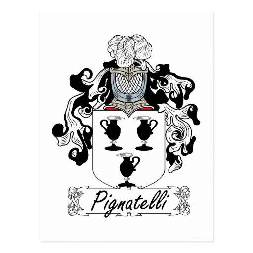 Escudo de la familia de Pignatelli Postal