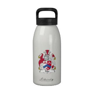 Escudo de la familia de Pike Botellas De Beber