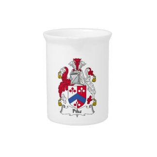 Escudo de la familia de Pike Jarras Para Bebida